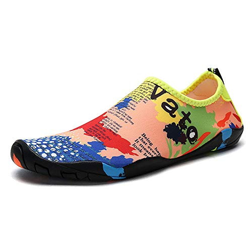 SailorMJY Badeschuhe Surfschuhe Für Damen,Wasserschuhe Herren, Aqua Schwimmschuhe Meer Schuh, Tauchen Schnorchelschuhe, rutschfeste Geschwindigkeitsstörungen Schuhe Im Freie