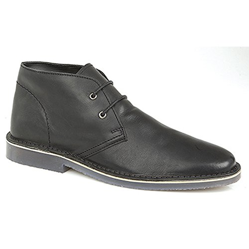 Roamers - Desert boots en cuir - Homme Noir