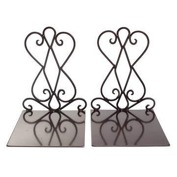 CCChaRLes 2 Stücke Vintage Eisen Buchstützen Regal Handwerk Stand Antike Buch Ende Home Room Dekor Ornamente - #1 -