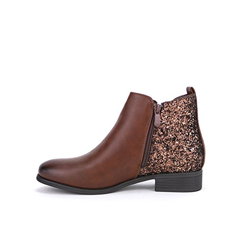 Cendriyon, Bottine Simili Cuir mMarron ILIO Chaussures Femme Marron