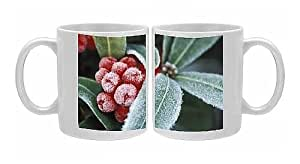 Photo Mug Of Frosted Skimmia by Prints Prints Prints