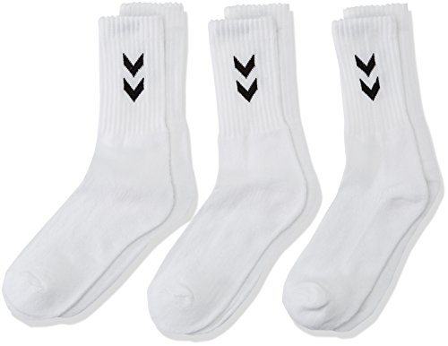 Hummel Kinder 3-Pack Basic Socken, weiß (White), 8 (32-35), 22-030-9001