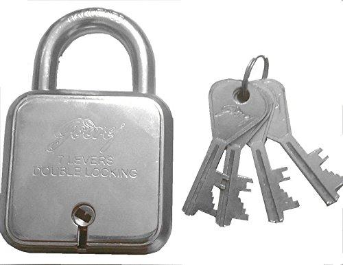 Godrej Square Padlock 7 Levers with 4 (Four) Keys By Mansha Hardware
