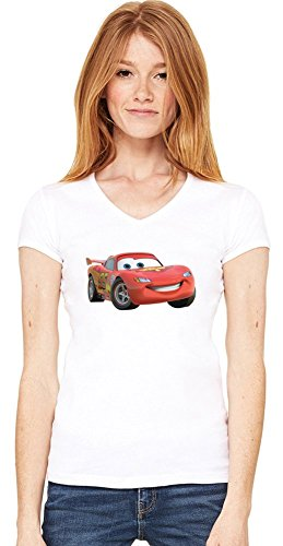 car Womens V-neck T-shirt XX-Large