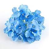 CAN_Deal 50pcs künstliche Hortensie Blumen für zu Hause Hochzeitsdekoration, Blauer Schatten