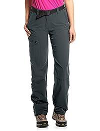 MAIER SPORTS Roll-up Wanderhose Lulaka für Damen aus 90% PA 10% EL in 25 Größen, Outdoorhose/ Funktionshose/ Trekkinghose inkl. Gürtel, bi-elastisch, schnelltrocknend und wasserabweisend