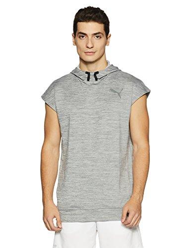 Puma Herren TECH Fleece SL Hoodie Pullover, medium Gray Heather, M Tech Fleece-pullover