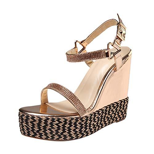 MOSERIAN Damen Sandalen Women's Fashion Sandals - Beige - 38/12