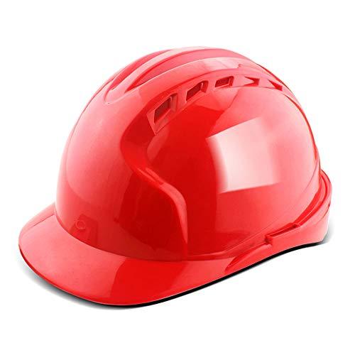 Yuan JIAN Casco Regolabile con Ventole fresche, ANSI-Compliant, Dispositivi di Protezione Individuale per Edilizia, Lavori di Ristrutturazione E Progetti Fai-da-Te/PP (5 Colori) Hard Hatc