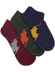 Polo Ralph Lauren Homme 3 Pack Logo socquettes, Multicolore