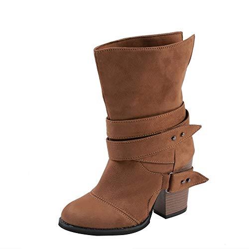 Stiefeletten Biker Boots Damen Over The Knee Stiefel Sexy Flache Stiefel Damen Schuhe Stiefel...