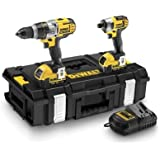 DeWalt 18V XR Lithium-Ion Combi Drill and Impact Driver with 2 x 4Ah Batteries (Twin Pack)