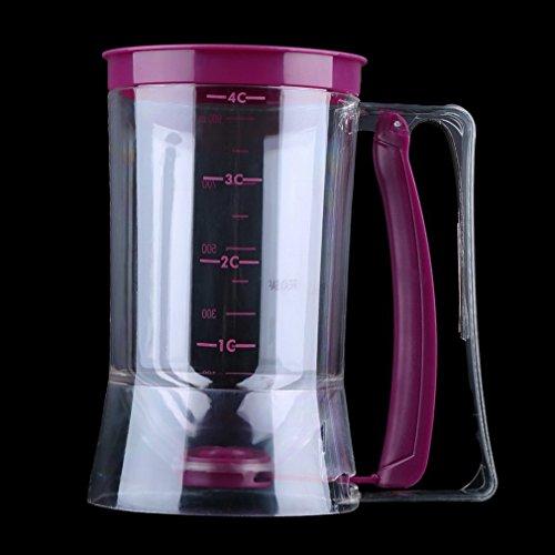 ulable 900ml Cupcake Pancake Cake Batter Dispensador de mezcla para repostería jarra hornear herramientas de eléctrica