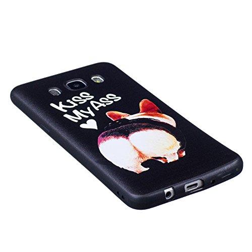 J5 2016 Hülle ,Samsung J5 2016 Shell Case , Galaxy J5 2016 Black Hülle, Cozy Hut® [Liquid Crystal] [Matte Black] [With Lanyard/Strap] Samsung Galaxy J5 2016 Ultra Slim Schutzhülle ,Anti-Scratch Shockp Hintern