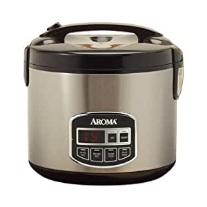 Aroma ARC-960SB 10-Cup Rice Cooker programmable en acier inoxydable