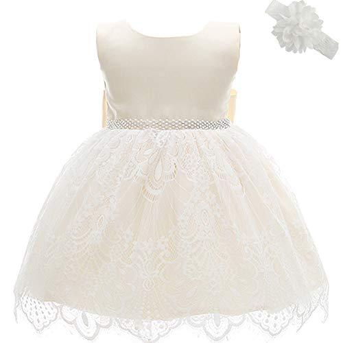 Dream Rover AHAHA Gold Baby Kleid Mädchen Prinzessin Kleid Taufkleider Mädchen Hochzeit Partykleid Festzug Babybekleidung