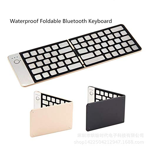 SHANGXIAN Faltbare Wireless Bluetooth Tastatur, Tragbare Wasserdicht Bluetooth 3.0 Tastatur [QWERTZ ], Für IOS/Windows Android Geräten : iPhone X 8 Plus, Smartphone, Tablets,Black 665 Wireless Bluetooth