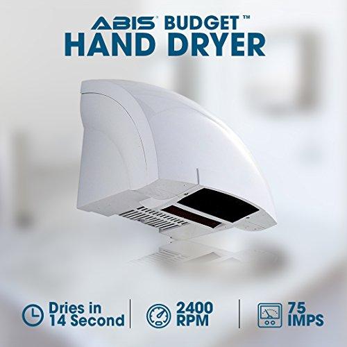 Automatischer Händetrockner Elektrische Händetrockner geringe laufende Kosten - Ausgezeichnetes Design und eignet sich für alle Bereiche mit geringem Datenverkehr - ABIS Budget Händetrockner