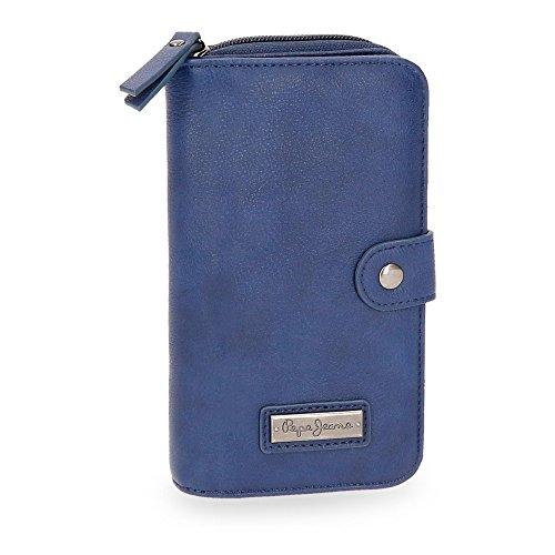 Pepe Jeans Croc Marino Damen Geldtasche Geldbörsen Geldbeutel Madchen Blau