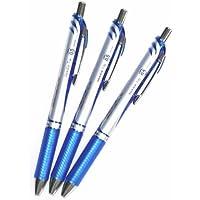 Pentel Energel si conficcano Penna del Gel del Liquido Retrattile 0.5mm, Linea Eccellente, Punta di Ago l'Inchiostro-valore Blu set di 3 (Col Nostro Negozio Descrizione di Prodotto