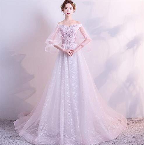 ELEGENCE-Z Brautkleid, Elegante Mesh Lace Illusion Langen Ärmeln Brautkleid Brautkleider