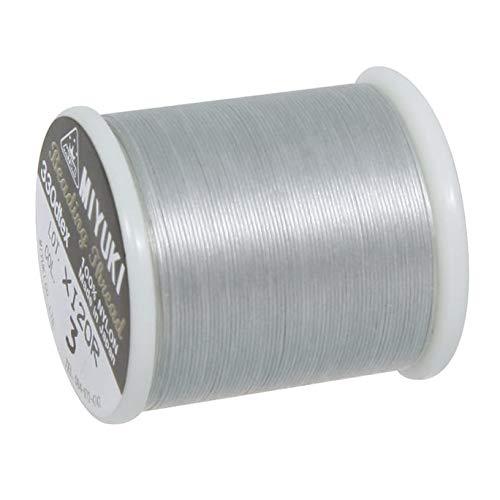 RAYHER 89300606 Aufreihgarn für Delica-Rocailles, 0,27 mm Durchmesser, Spule, SB-Btl, 50 m, silber