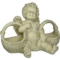 Progettazione Toscano SH38010413 cesto di leccornie Cherubino statua