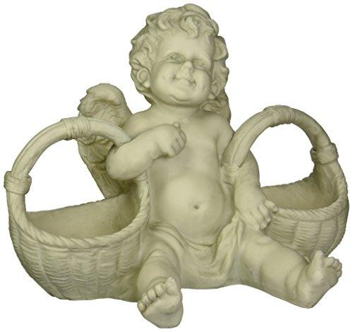 Design Toscano Korb voller Leckerbissen, Cherub-Statue -