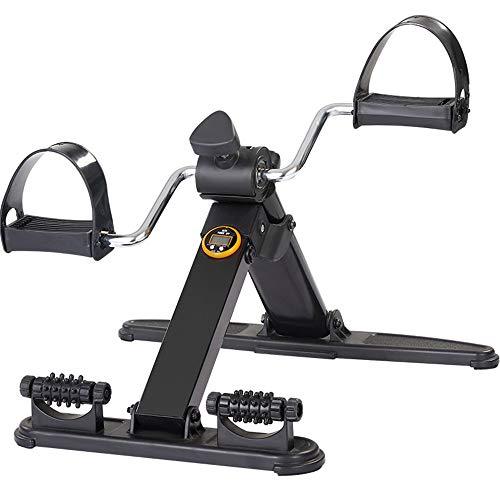 JFJL Pedaltrainer mit LCD-Monitor -Tragbarer Schreibtischzyklus - Hand, Arm & Beinübung Peddling Maschine - Einstellbare Fitness-Reha-Ausrüstung für Senioren, ältere Menschen