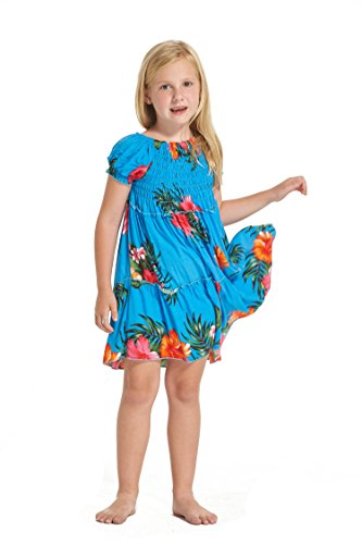 Nia-hawaiano-Juego-de-vestidos-y-pantalones-a-juego-en-Turquesa-floral-Tamao-8