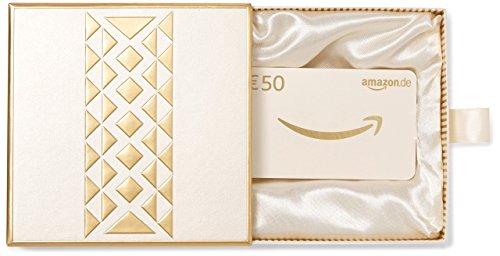 Amazon.de Geschenkkarte in Geschenkbox - 50 EUR (Gold)