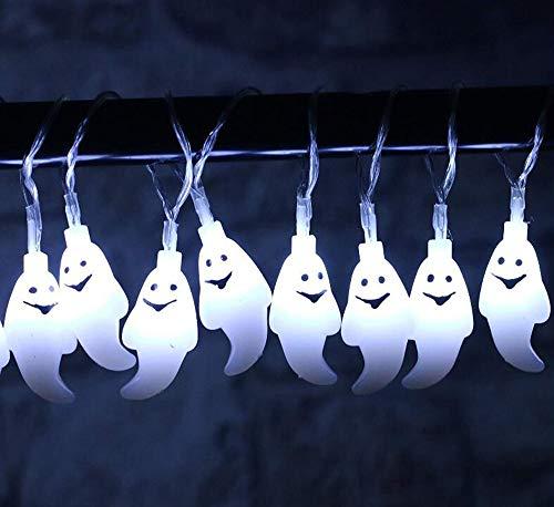 Halloween LED-Leuchten String Ghost Bat Kürbis Laterne Blitzlichter Ostern Dekoration Atmosphäre 2M 20 Lichter,1