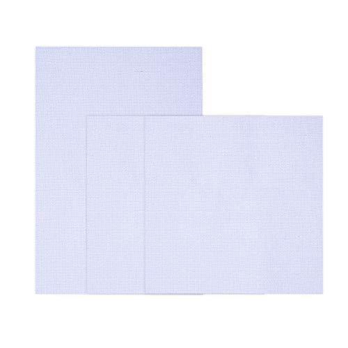 Onepine 3 Stück Kreuzstich Tuch 11 Count Aida Stoff,Sticken Stoff Weiß (30 x 30 cm 2 Stück + 45 x 30 cm 1 Stück) - 3 Größe Baumwollgarn