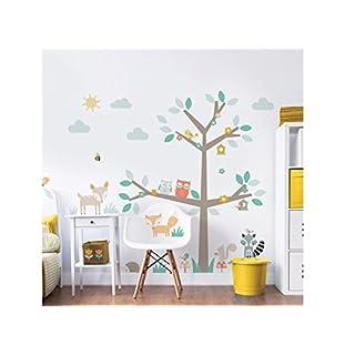 Walltastic Woodland Wall Stickers - Tree & Animals Baby Nursery Room Decoration