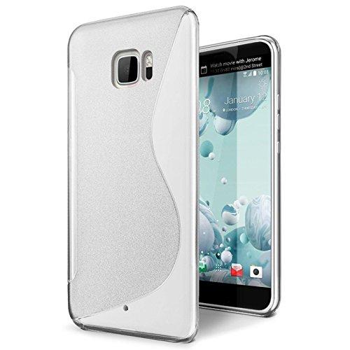 Conie Rückschale für HTC U Ultra - Silikon Schutzhülle im S-Line Design Hülle aus TPU, Kratzfest Kantenschutz, U Ultra Handyschale