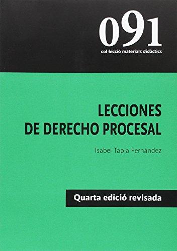 Lecciones de derecho procesal (materials didàctis)