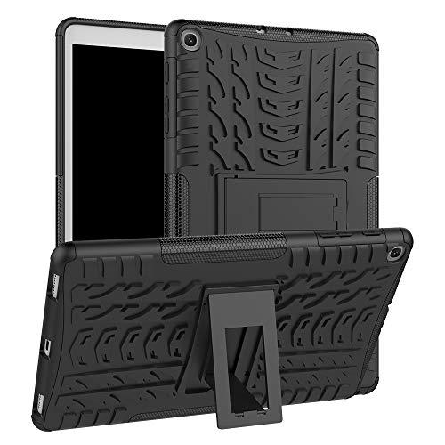 HiYiXi Custodia per Samsung Galaxy Tab A 10.1 2019 Anti-drop Doppia protettiva Cover Case con Supporto Funzione Custodia per Samsung Galaxy Tab A 10.1 (2019) T510 / T515 - nera