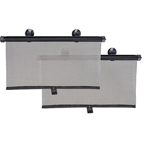 Seitenfenster-Rollo Sonnenschutz 2er Set 55cm, Aufrollfunktion, einteilig