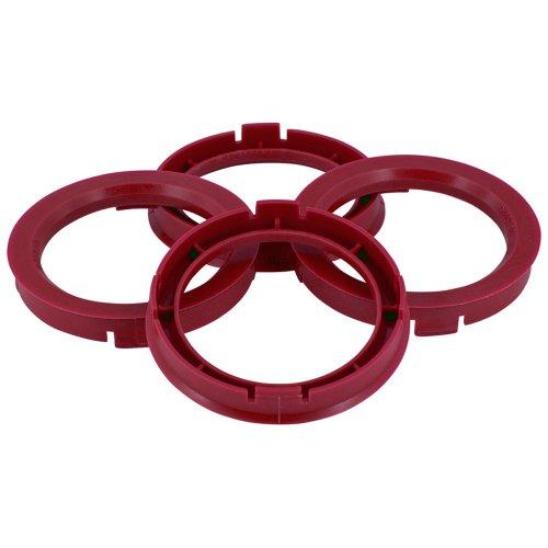 TPI BX6015610-4 Satz Zentrierringe für Radnabe, 60,1-56,1mm, Weinrot
