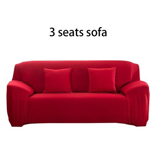 iiniim Sofa Cover Elastischer Sofabezug Sesselbezug Sofahussen Sofaabdeckung für Stuhl / Loveseat / 3 Sitzer / 4 Sitzer Sofa Burgund 3 3 Sitzer