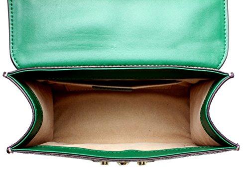 SAIERLONG Nuovo Donna Blu scuro/Grigio Vera Pelle Borse Crossbody Sacchetti di spalla Rosso/Rosa