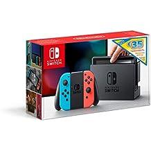 Nintendo Switch - Consola Azul Neón / Rojo Neón + Bono 35€ eShop (Código de descarga)