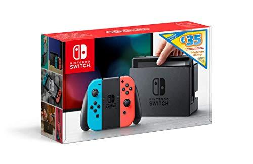 Nintendo Switch - Consola Azul Neón / Rojo