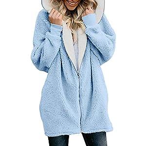 Oasics sexy Samt Winterjacke Pullover Mantel Frauen einfarbig übergroßen Reißverschluss Kapuze Flauschigen Mantel offen Jackentasche S-5XL