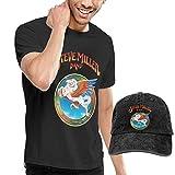 Photo de Baostic Homme T- T-Shirt Polos et Chemises, Men's Steve Miller Band T-Shirts and Washed Denim Baseball Dad Hat Black par Baostic