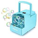 KidoMe Máquina de Burbujas Portátil, Automatic Máquina de Soplado de Burbujas para Niños, Alimentado por Batería o Cable USB Máquina de Hacer Burbujas para Bodas, Interiores, Exteriores