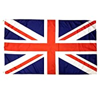 3x5 British Flag with Two Brass Grommets 100% Polyester, UK Flag, United Kingdom Flag, Union Jack Flags, English Flag England Flag Union Flag 3x5 English Flag United Kingdom Flag Britain Flag 3x5