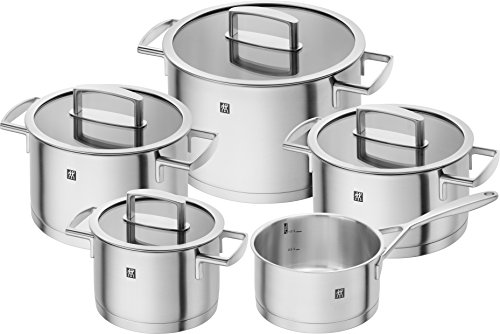 Zwilling Cookware Set Vitality 5 Parts, Silver