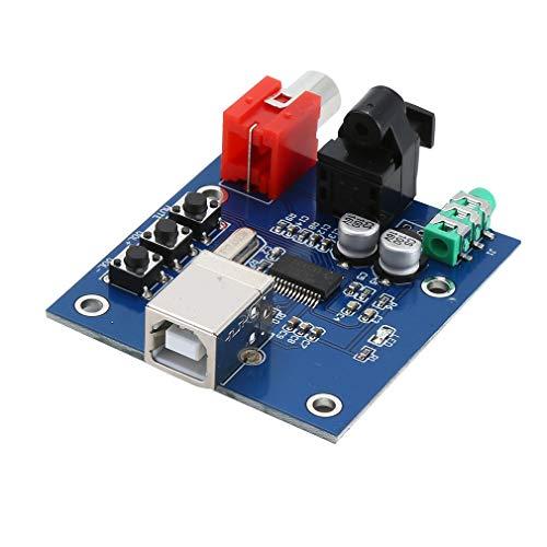 B Soundkarte HiFi DAC Decoder Board Analog Koaxial Optisch Blau ()