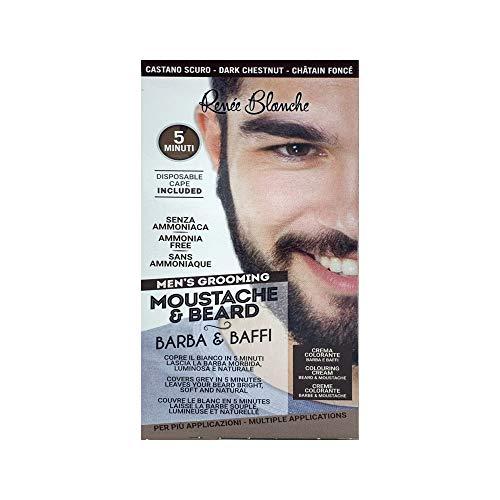 Scopri offerta per Renee Blanche Colorazione Per Barba E Baffi Tintura Colore Castano Scuro 2 x 20 Ml